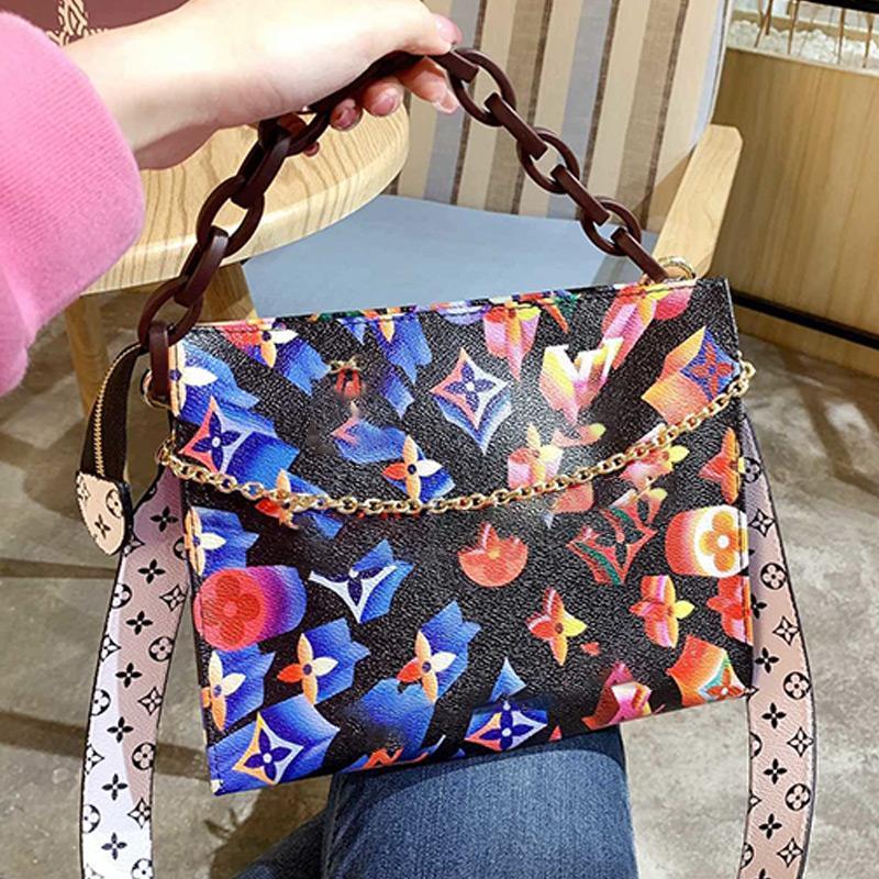 Tie-dye Messenger Bag newset Saco do clássico da lona das mulheres Handbag Três ombro fitas Totes Bolsa Handbag Crossbody Bag Type3
