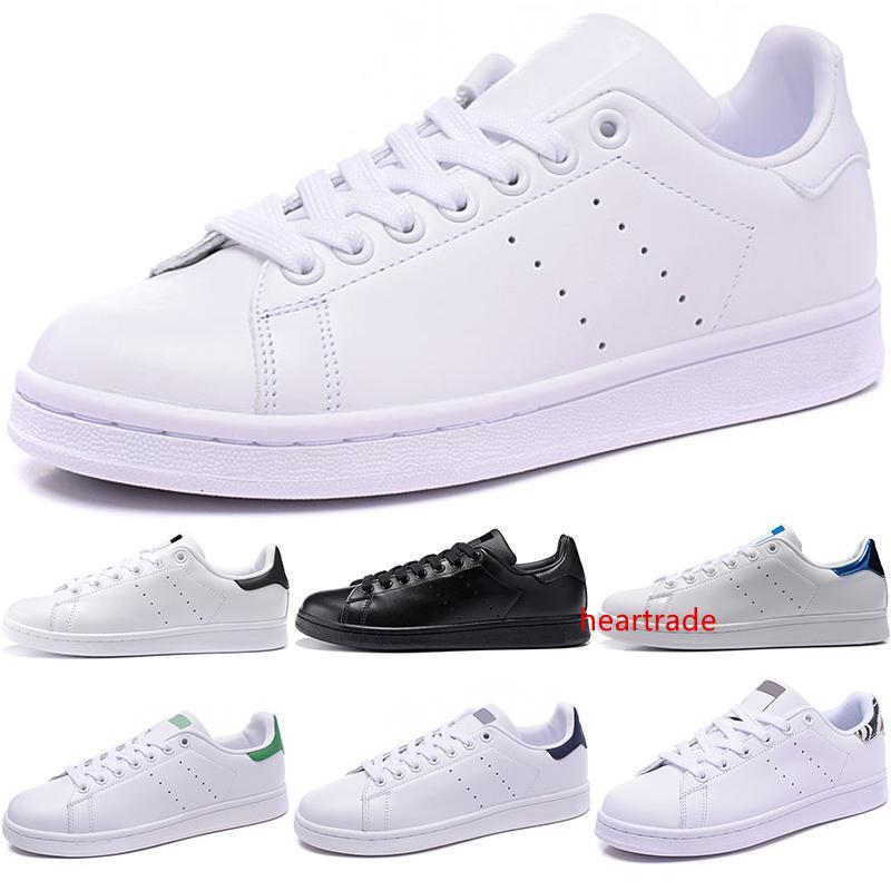 Original Stan Smith Hombres Mujeres Zapatos Casual Negro Blanco Azul Rojo Moda Niño Niña de piel Pisos Diseñador Tamaño Trainer zapatillas de deporte 36-44