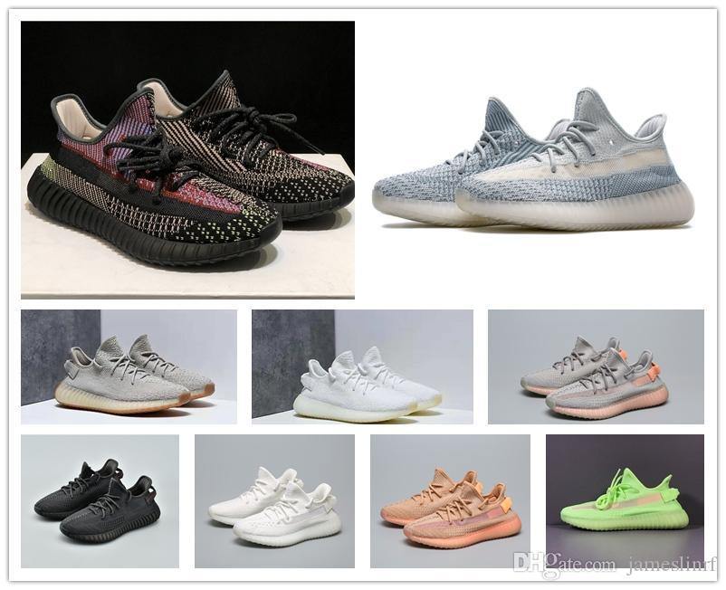 2020 Kanye West statik Sitrin tereyağı Yecheil siyah ayakkabılar spor ayakkabı boyutu 36-46 withbox çalışan tüm beyaz breds Pompa Kil Bulut Beyazı