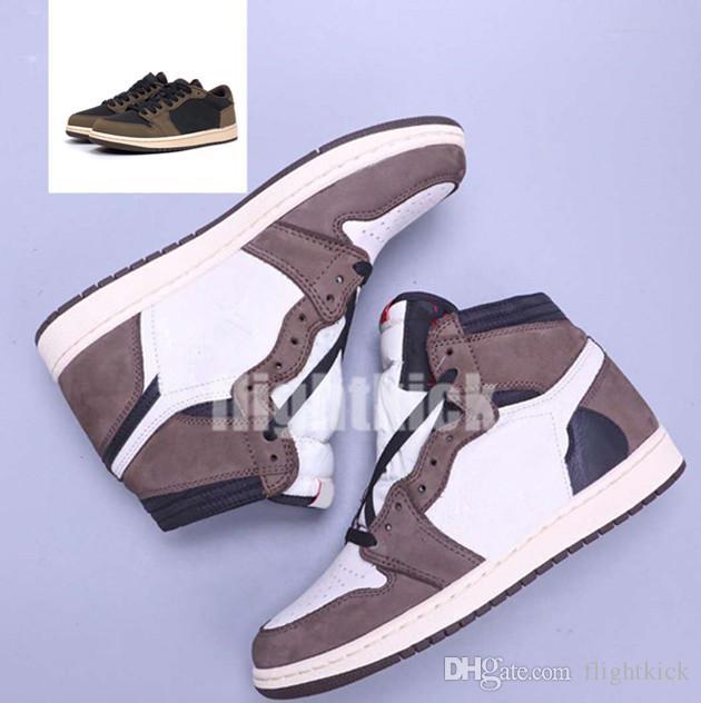 Mit Box Hot Travis High und Low Og SP 1 Casual Jack Wildleder Segel Black Dark Mokka University 1 Joint Tehe Luxus Luxus Casual Schuhe