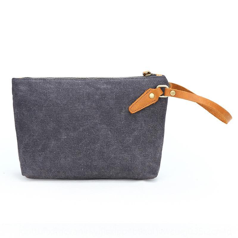 moda casual chiave portatile sacchetto di chiave della borsa della moneta piccola borsa a mano in stile coreano a mano dei nuovi uomini di tela