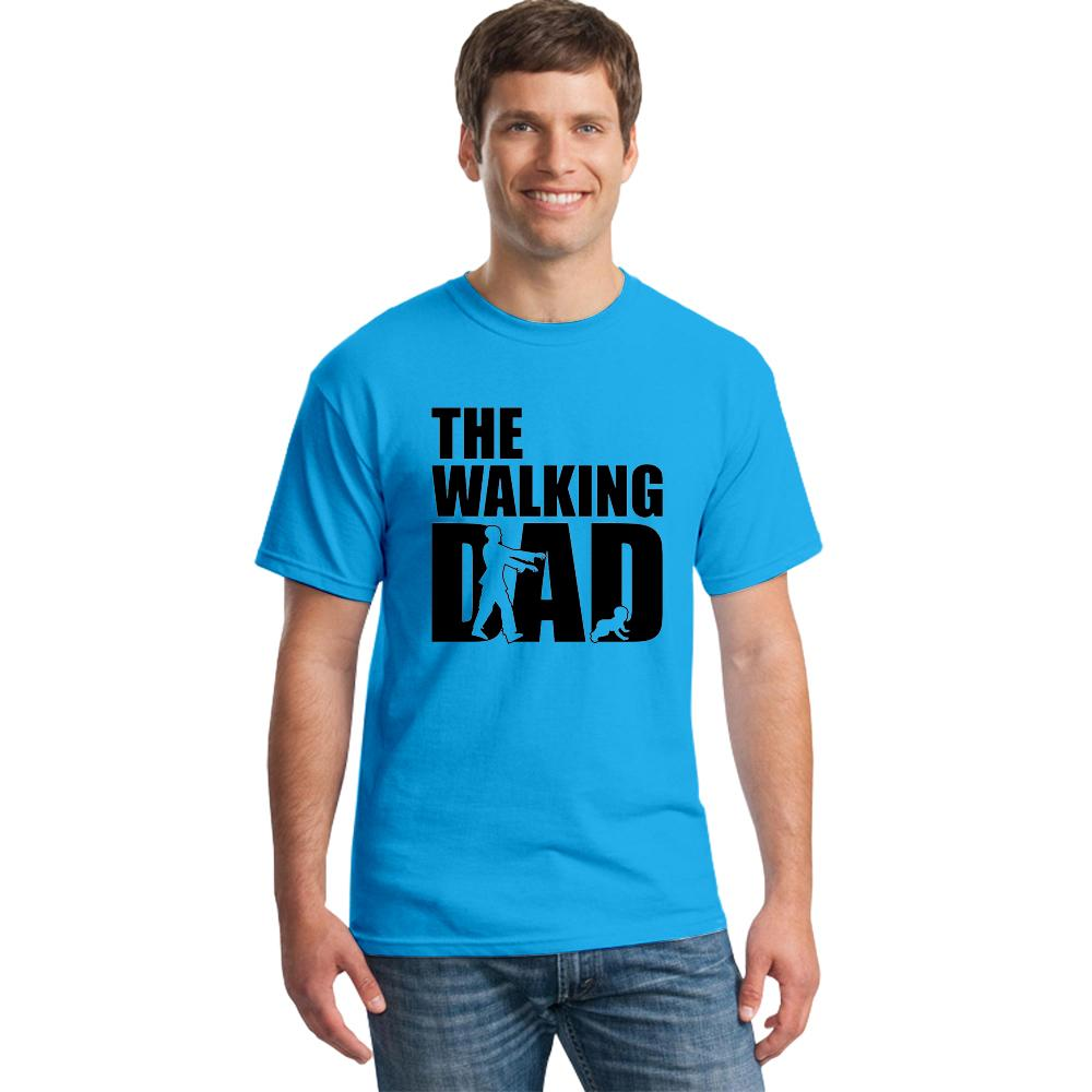 New Arrival The Walking Dad T Shirts Men Tops Casual Cotton Father's Day T Shirts Short Sleeve Men Funny Dad Gift T-shirt Tee