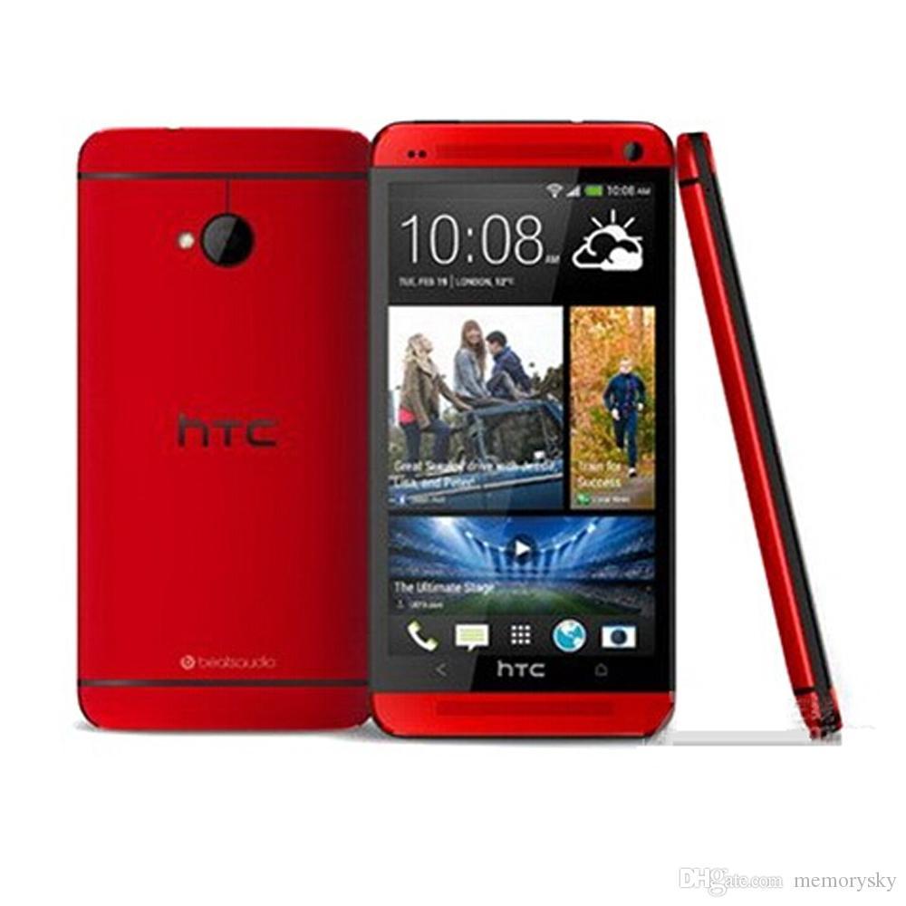 원래 쓰자 HTC M7 쿼드 코어 4.7 인치 2기가바이트 램 16기가바이트 롬 안드로이드 4.1 전화 3G WCDMA 폰 봉인 된 상자 옵션