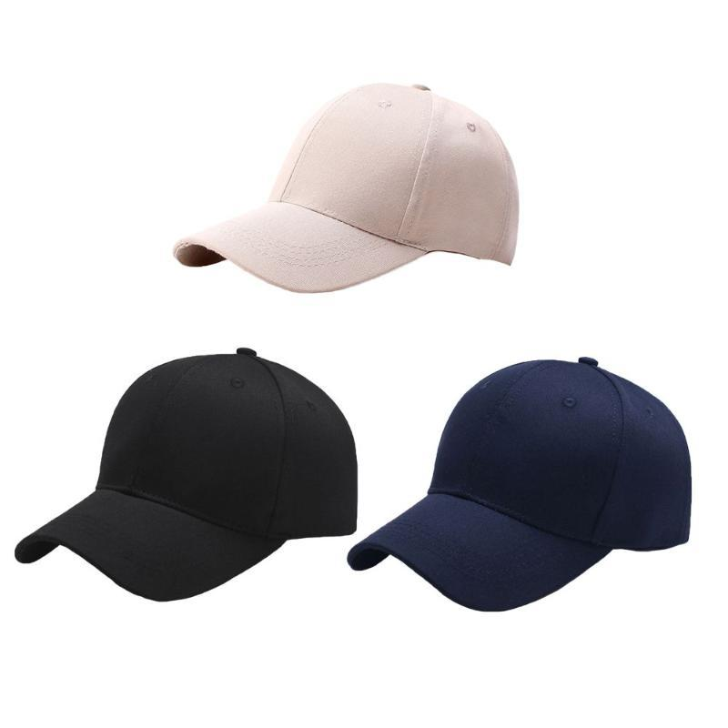 Mens Fashion Solid Color Baseball Cap Hip-Hop Adjustable Snapback Outdoor Hat