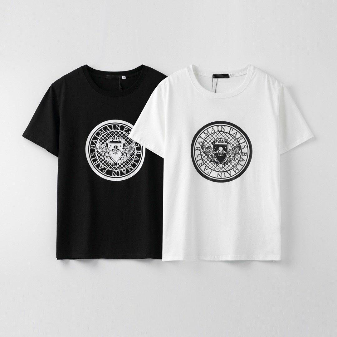 2020 men's design T-shirt high street letter print T-shirt top men's and women's fashion street clothing Tshir