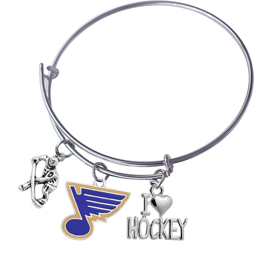 Двойной нос я люблю хоккей Сент-Луис Блюз хоккей Шарм браслеты браслеты для игрока сувенирные подарки Спорт ювелирные изделия мода