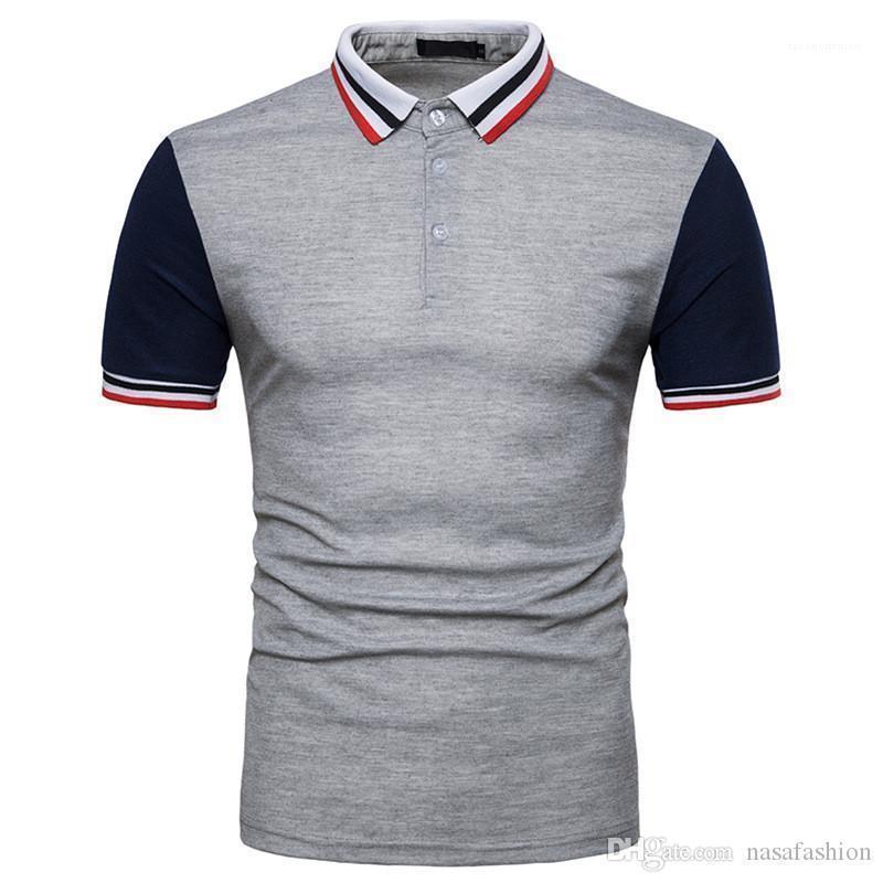 Getäfelten Short Sleeve Tees Stehkragen Sommermens Quick Dry-Kleidung-Sommer klassischen Mens Designer Polos Gelegenheits