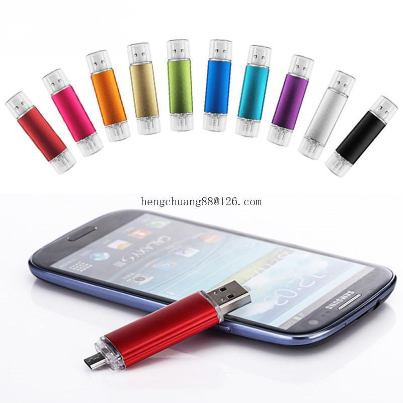 멀티 컬러 USB 2.0 OTG 펜 드라이브 32G 고속 USB 플래시 드라이브 32GB 16GB 외부 저장 메모리 스틱 마이크로 USB 스틱 Pendrive
