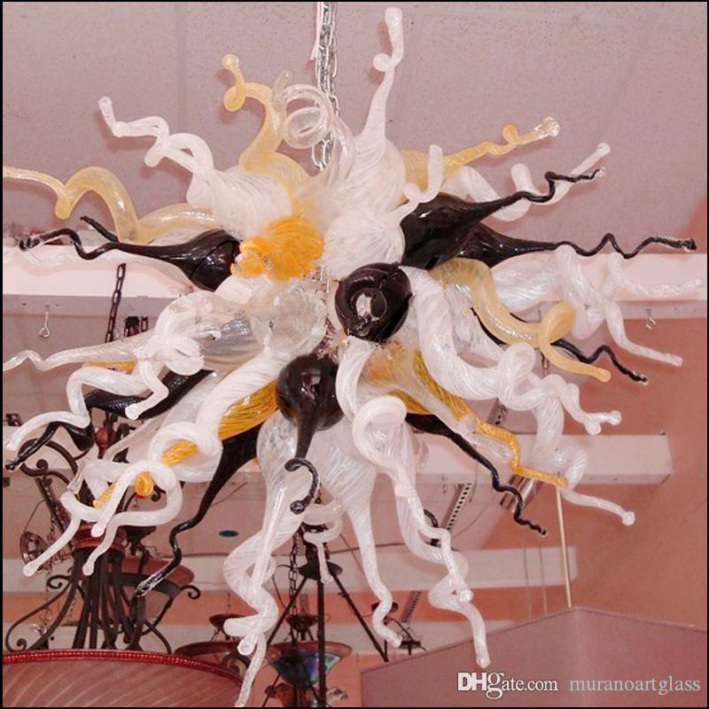 Подвесной Гриб Витраж Бабочка Лампа Многоцветная Люстра Ручной Выдувное Стекло Красочные Муранские Потолочные Светильники Украшения