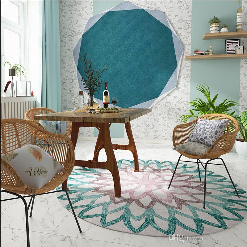 Superb Basket Swivel Chair Floor Mat Geometry Round Flower Orange Blue Cartoon Lovely Childrens Room Carpets New Arrvial 59Jq3 E1 Broadloom Carpet Shaw Machost Co Dining Chair Design Ideas Machostcouk