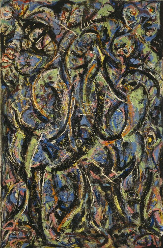 Jackson Pollock Gothic decorazione domestica dipinta a mano HD Stampa della pittura a olio su tela di canapa di arte della parete della tela di canapa Immagini 200206