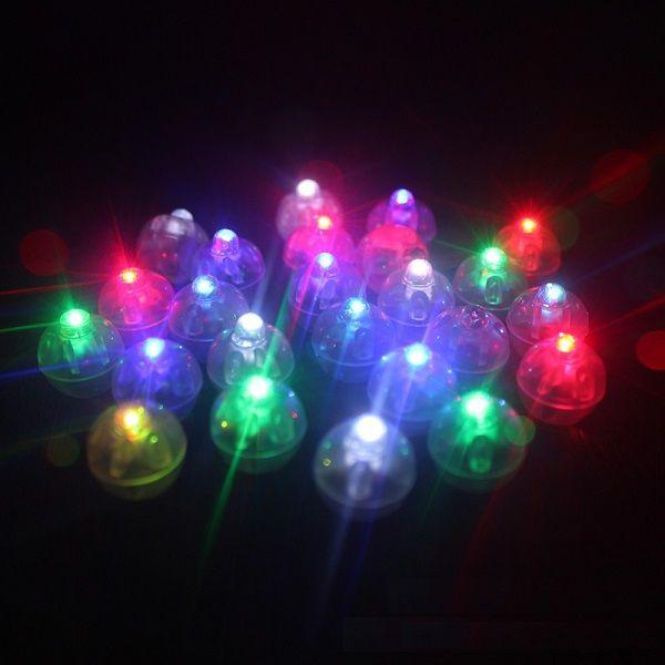 Круглая форма баллонная лампа, мини-светодиодный шар воздушный шар свет для бумажного фонаря свадьба рождественская вечеринка украшения