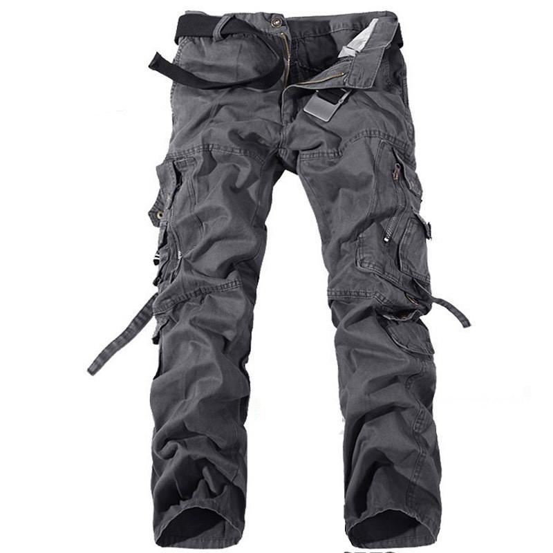 Pocket Bandage Mens Cargo Pants solido di colore allentato Raffreddare Men Casual Pantaloni caldi di modo di vendita abbigliamento
