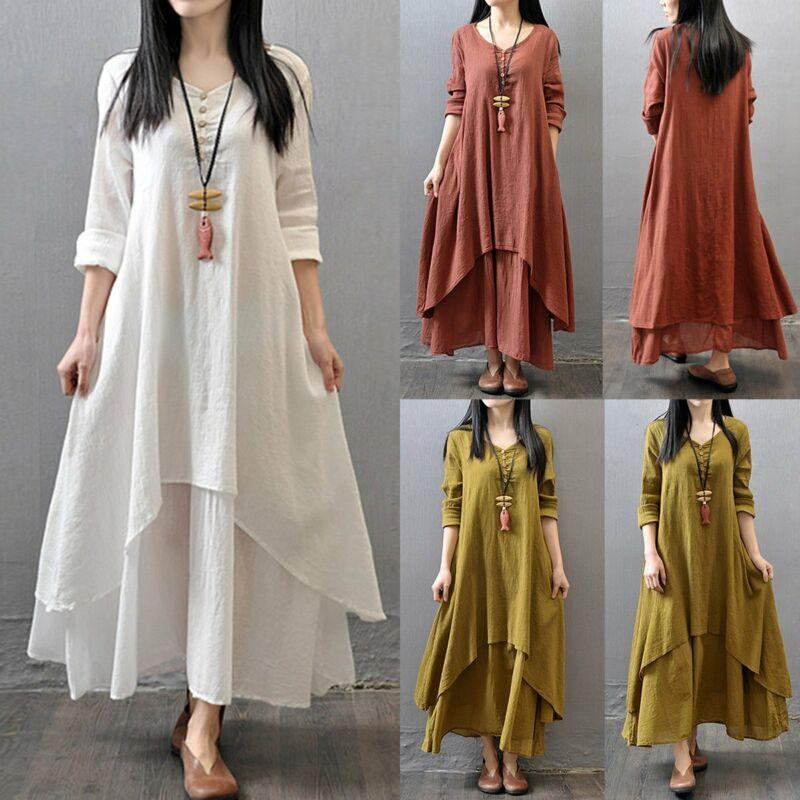 Casual Long Sleeve Maxi Dresses