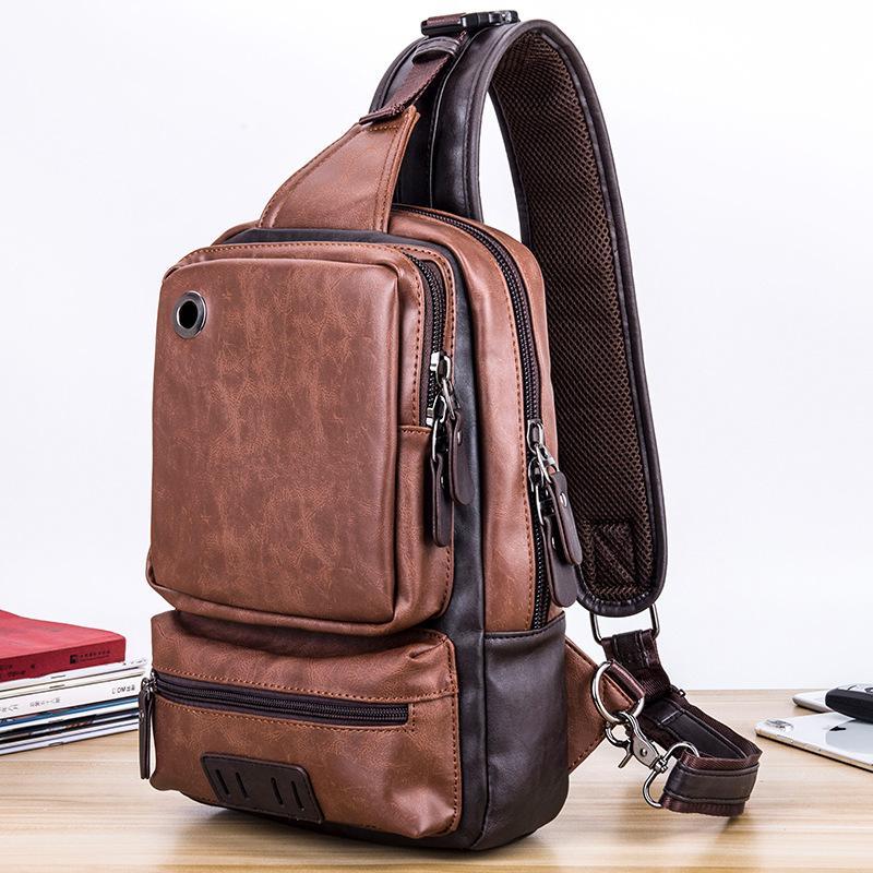 Новый корейский стиль мужская повседневная сумка на плечо Спорт на открытом воздухе грудь сумка улица большой емкости