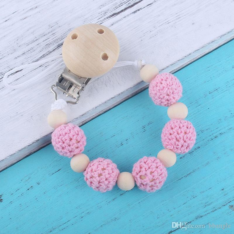 Baby Shower Gift Binky Clip Patterned Pacifier Clip