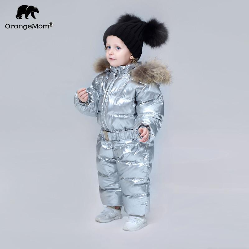 Orangemom 2019 년 겨울 베이비 의류 아동복 소녀 용 오리 코트 자켓 어린이 소년 Jumpsuit Cool Snowsuits J190525