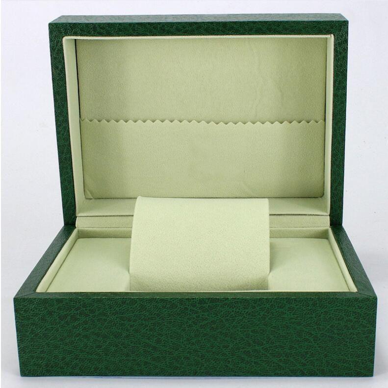 Spot Brand Watch Box Green Watch Gift Box High-end Jewelry Wooden Earring Spot Wholesale