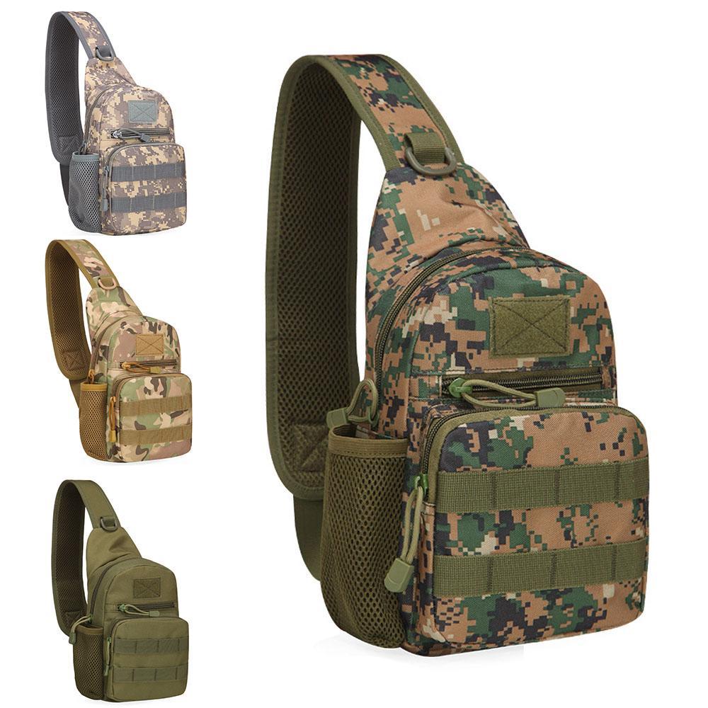 Outdoor Tactical Caminhadas Bag Exército shoudler saco de água Molle acampamento de sacos de peito Sling Corpo Único Shoulder Backpack