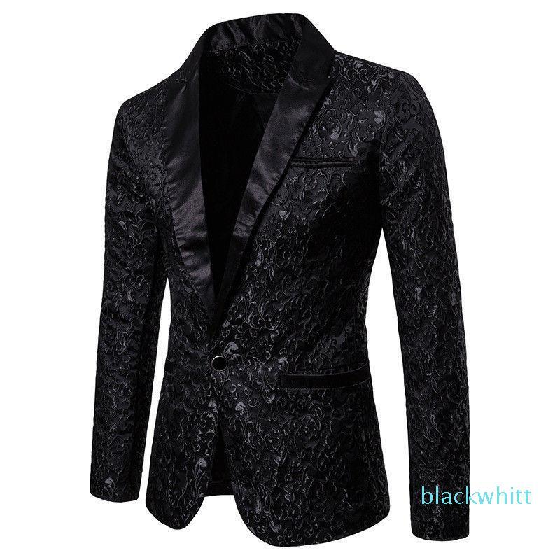 Slim Fit Blazer Hommes New Arrival Hommes Floral Blazers Floral robe de bal Blazers mariage élégant Blazer et Veste de costume homme XM01