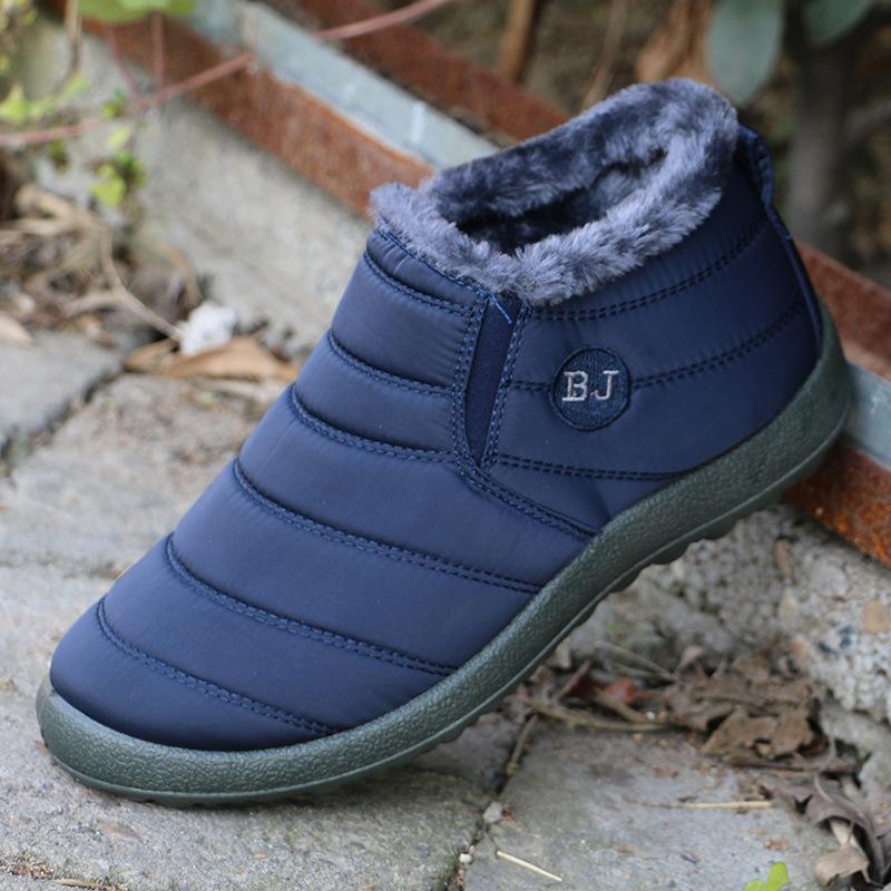 Unisex Kış Kadın Kar Botları Ayak Bileği Moda Düz Rahat Pamuk Ayakkabı Kadın Artı Kadife Sıcak Tutmak Su Geçirmez kaymaz 35-46