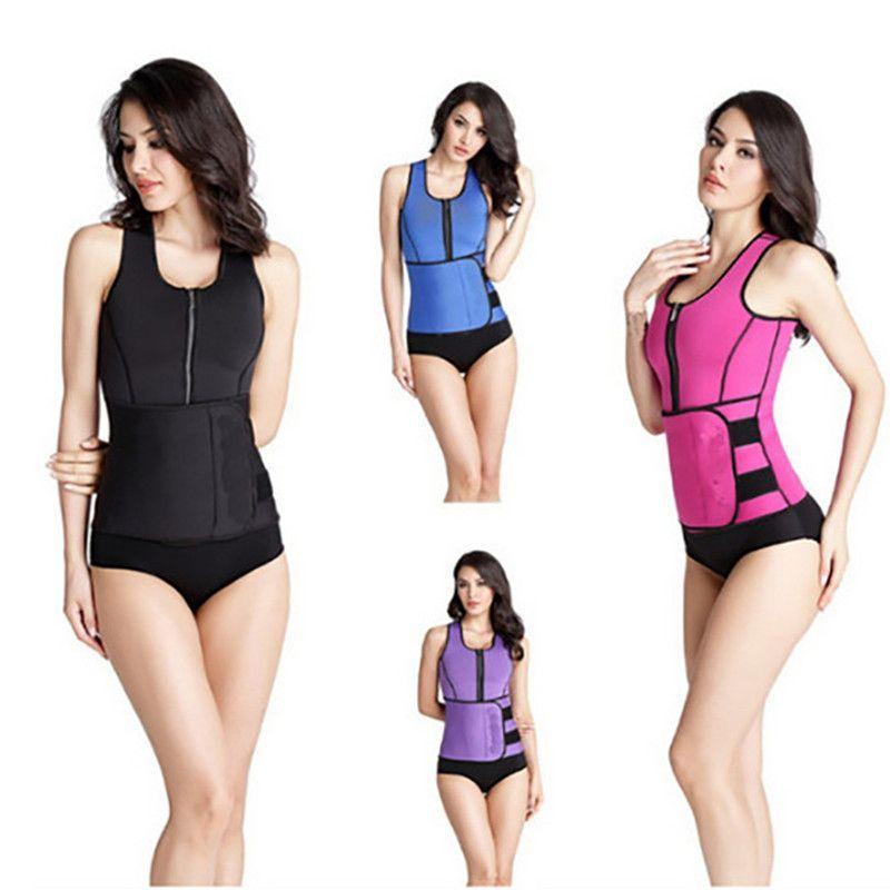 S-4XL النيوبرين المشكل الجسم للنساء الصدرية التخسيس الحرارية مدرب اللياقة البدنية النيوبرين ساونا الصدرية قابل للتعديل الخصر المدرب تنحيف الجسم