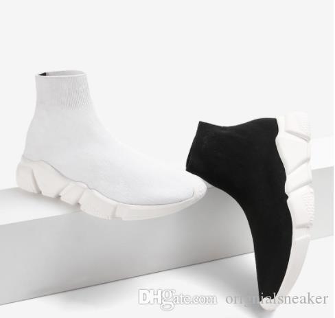 Çorap Ayakkabı Hız Eğitmen rahat ayakkabı toptan Yüksek Kaliteli Sneakers Hız Eğitmen Çorap Yarış Koşucular siyah Ayakkabı erkekler ve kadınlar Spor ayakkabı