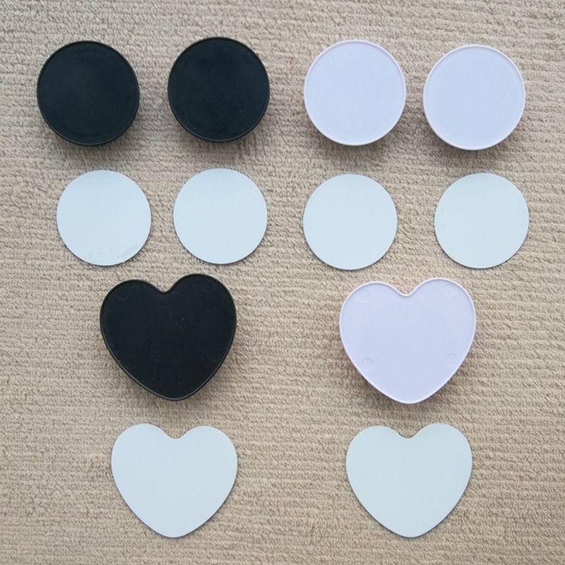 Soporte de teléfono celular en forma de corazón Inserto de sublimación de aluminio solo para soporte de soporte de soporte de agarre personalizado personalizado