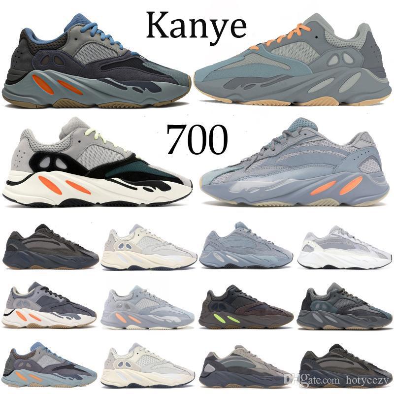 700 Dalga Runner Kanye Karbon Teal Mavi katı gri Vanta Atalet Statik Ayakkabı Mıknatıs Yanardağın leylak Erkekler Ayakkabı spor ayakkabı Koşu