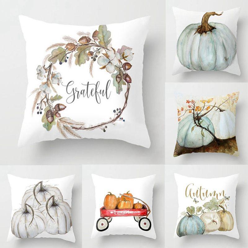 Halloween Wohnkultur Leinen Kissenbezug Auto Sofa Werfen Kissen-Qualitäts-Aquarell-Kürbis-Kissen-Abdeckung Pillowcase