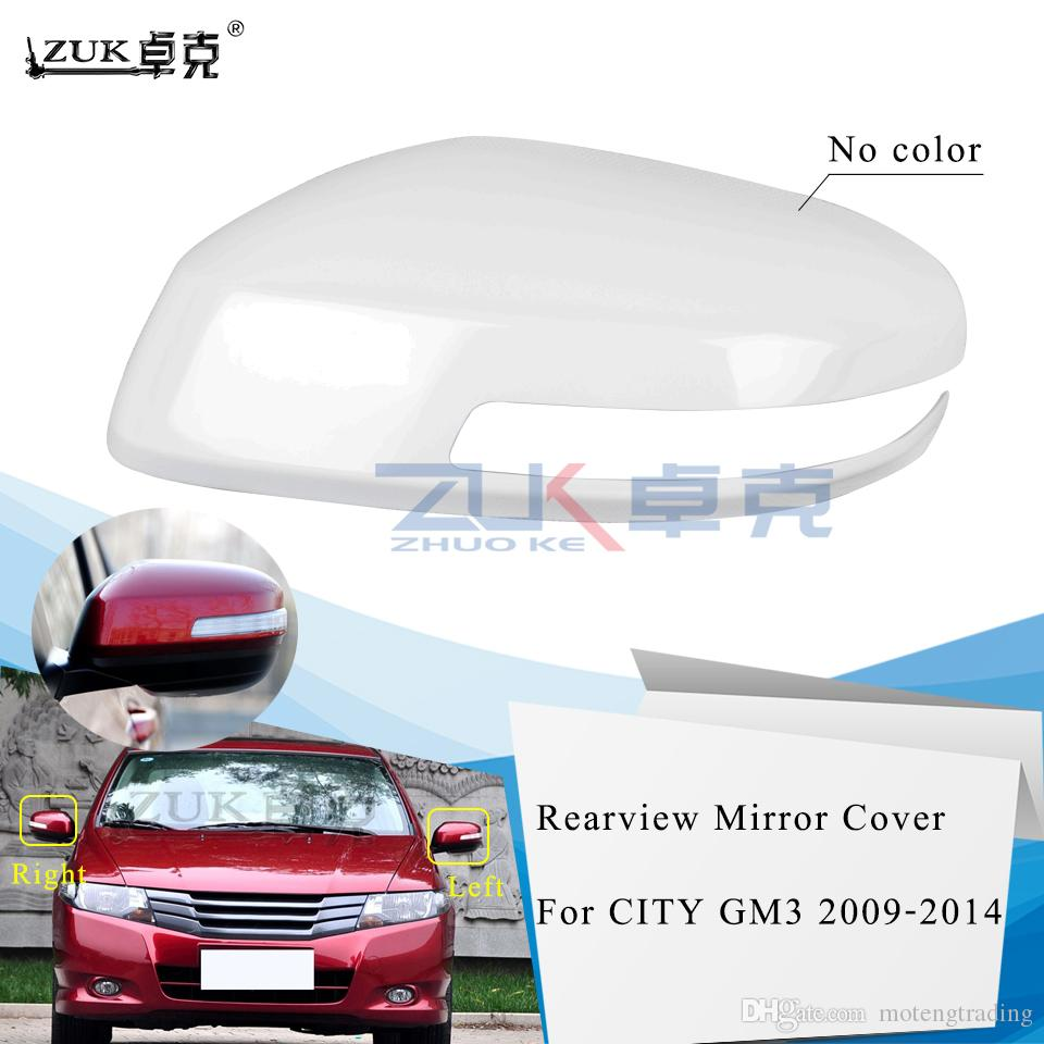 ZUK Brank New Outer Side Rearview Mirror Cover Housing Shell For HONDA CITY GM3 2009-2014 CRIDER 14-17 Base Color With Lamp Type