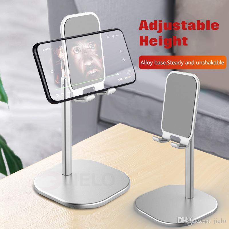 Base ajustável do suporte do telefone para Xiaomi Huawei New Desktop Stand Universal Anti-Slip Silicone Secretária Titular Tablet Todo Smartphone para