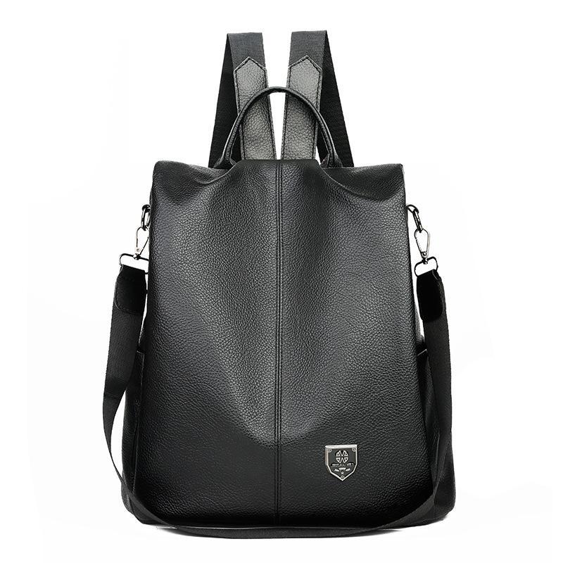 Многофункциональный рюкзак Женщины PU кожа Сумка большой емкости сумки Рюкзаки Открытый Путешествие хранения водонепроницаемый мешок школы New