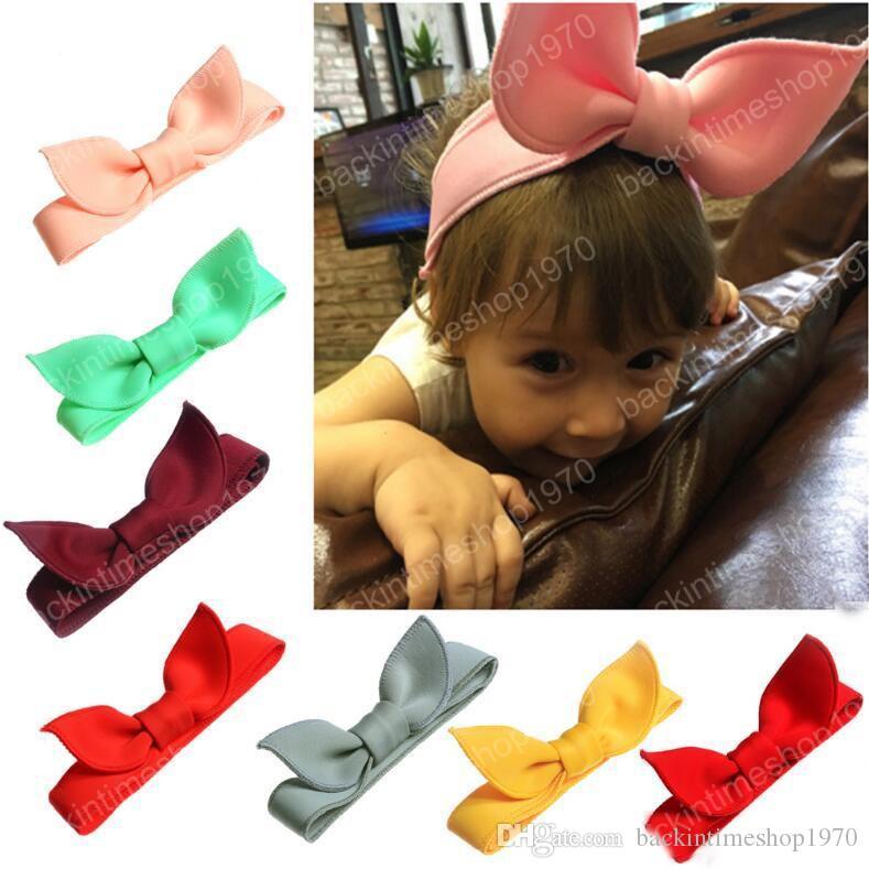 Çocuklar Uzay Pamuk Bow Bantlar Memory Foam ayarlanabilir boyutu Tavşan Kulak Kızlar Headwrap Kadınlar Makyaj Hairband Tavşan Kulakları Turban