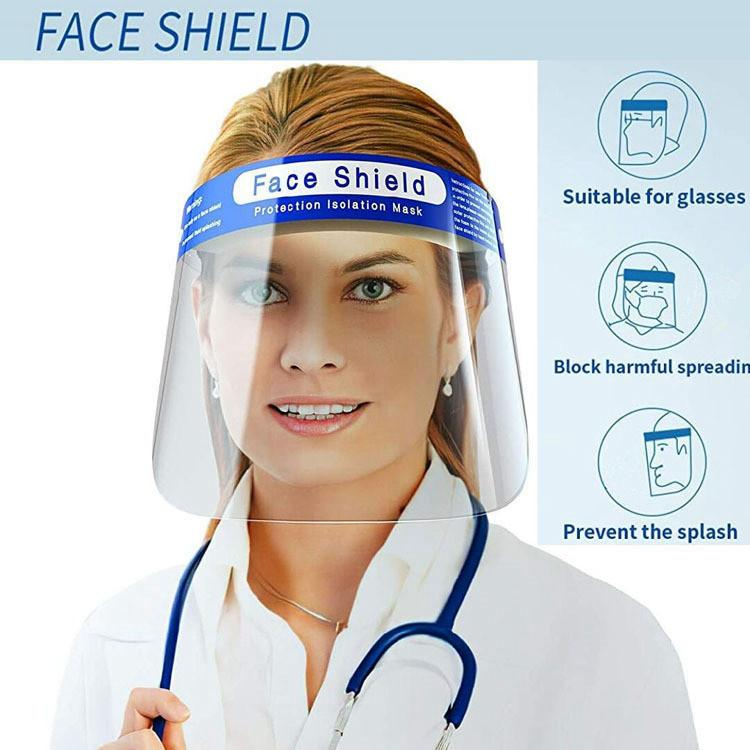 Face shield маска прозрачная полная крышка лица защитная пленка инструмент анти-туман ПЭТ материал открытый велоспорт Face Safety Shield маски FFA3948