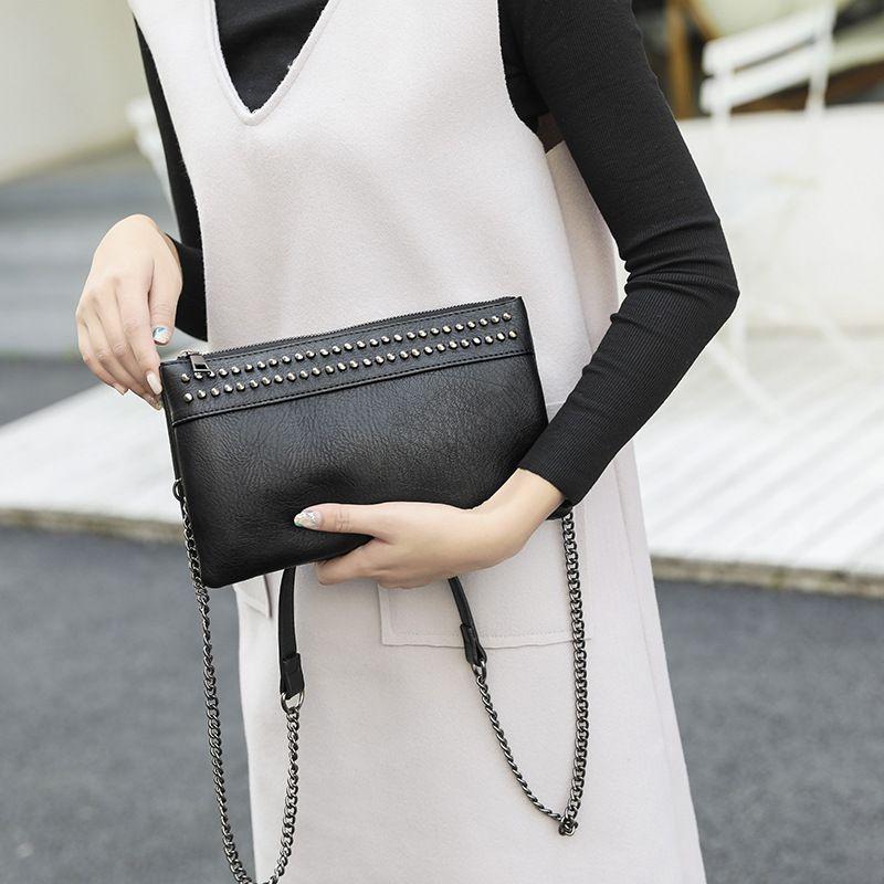 New Riveting Schulter- / Umhängetasche Tasche Damen Clutch-Bag