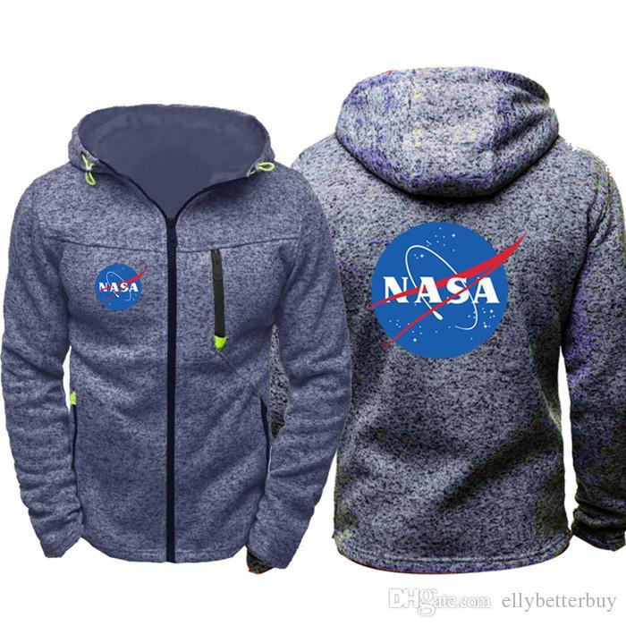 Yeni NASA Erkekler Spor Kapüşonlular Fermuar Moda Tide Jakarlı Güz Tişörtü İlkbahar Sonbahar Ceket Kaban Eşofman Tops Wear