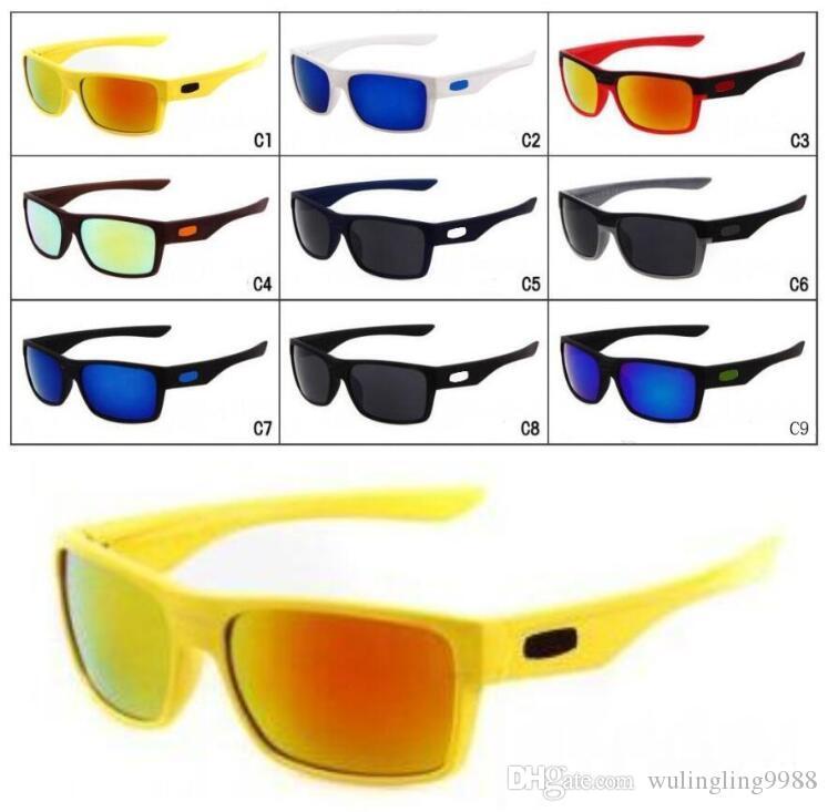 الصيف الرجال شعبية النظارات الشمسية الملونة قيادة المرأة ركوب الدراجات في الهواء الطلق نظارات الشمس مربع إطار نظارات ركوب 9 ألوان