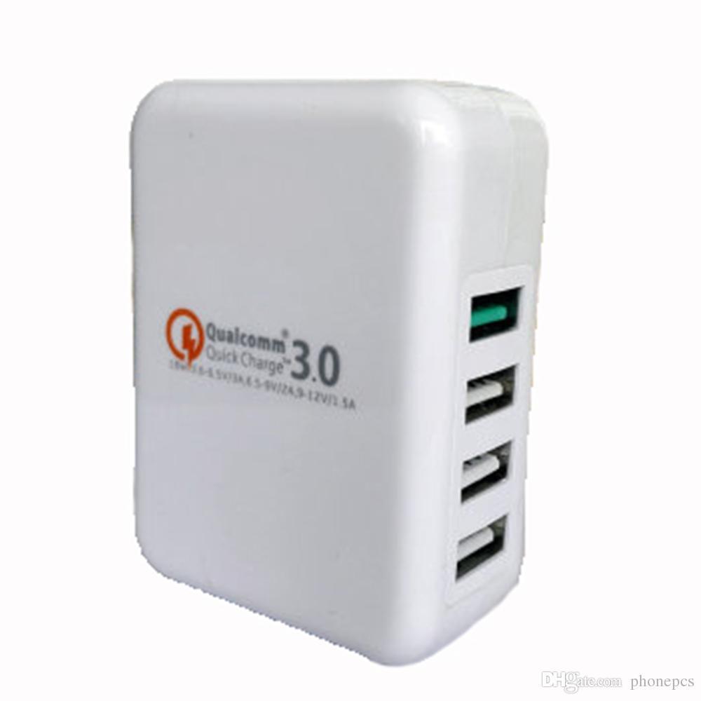 XY-QC30-4U 4 USB Mobile Phone Charger Fast Charging Head Europe America