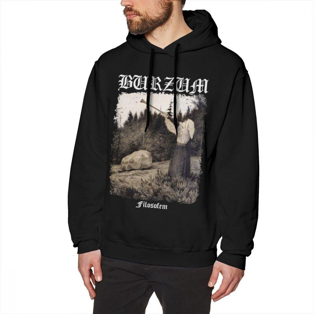 Burzum Hoodie Burzum - Filosofem Cover Ver2 Hoodies Long Length Cotton Pullover Hoodie Loose Big Cool Winter Mens Grey HoodiesMX191011