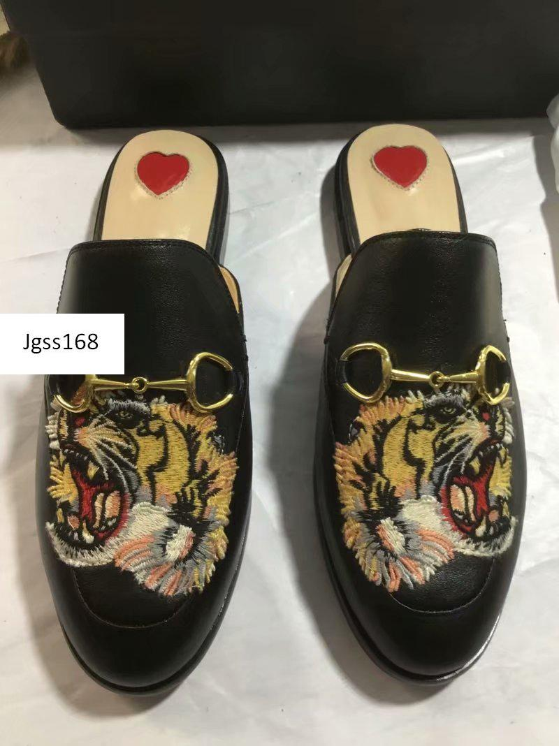 Nueva venta Princetown diseñador clásico resbaladiza metal hebilla de zapatillas de playa amores suaves zapatos al por mayor