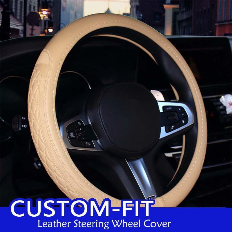 جلد توجيه السيارة غطاء عجلة للBMW X1 X3 X5 X6 E36 E39 E46 E30 E60 E90 E92 الحجم M الغلاف 38CM القيادة