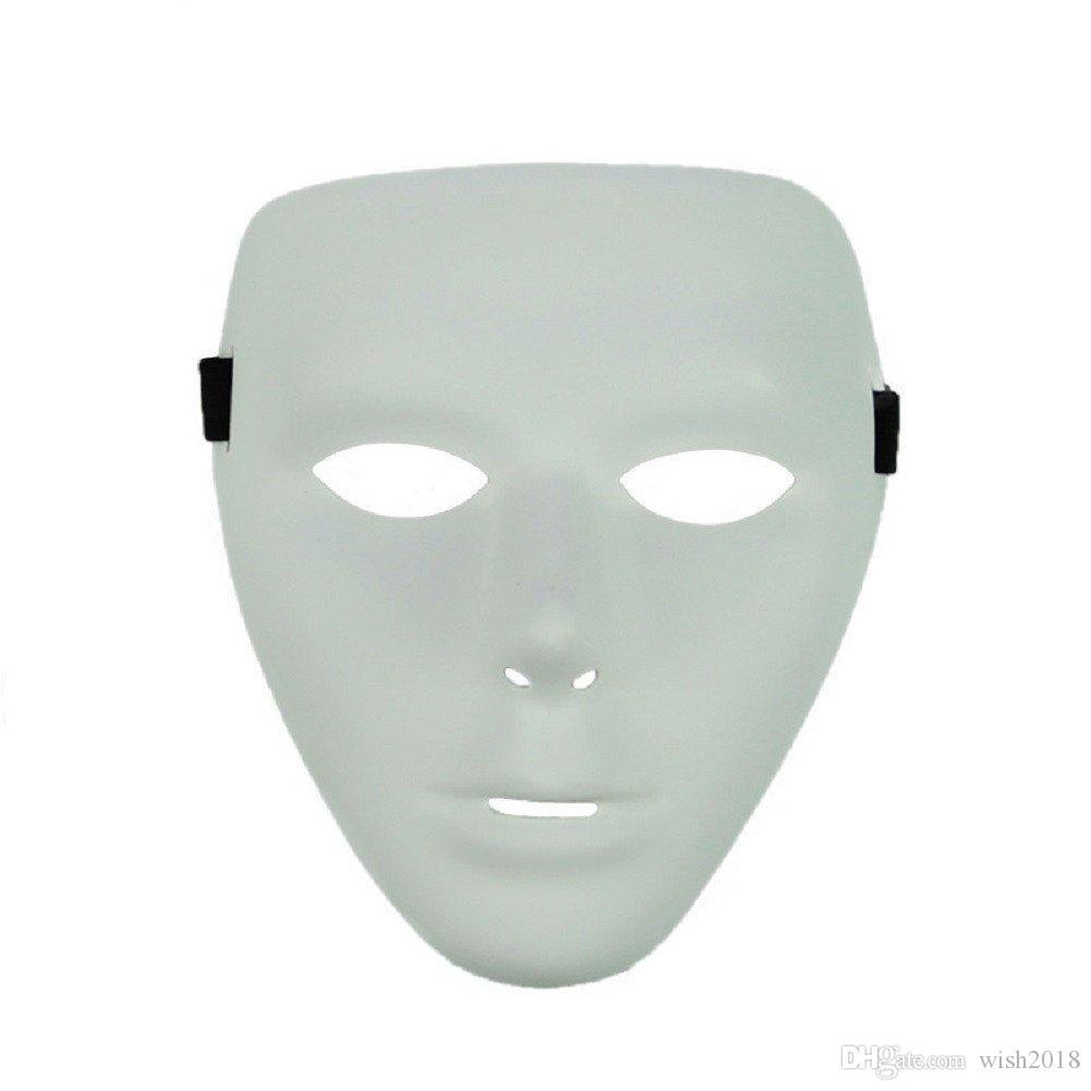 Máscara de fiesta de rostro completo Máscaras de cosplay blancas en Dance Party