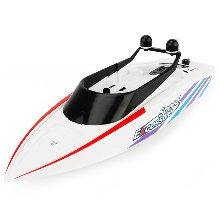 3323 4 canali telecomando a remi barca RC Mini 2.4G doppio Tail Eliche alta velocità Imbarcazioni bambini fuori Porta Fun giochi d'acqua in barca