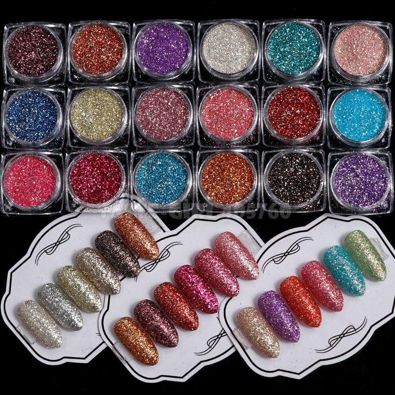 1 Jar Glitter Holographic Star Nail Powder Dust Chrome Pigment Dust Nail Art Decorations Manicure Design XZF#