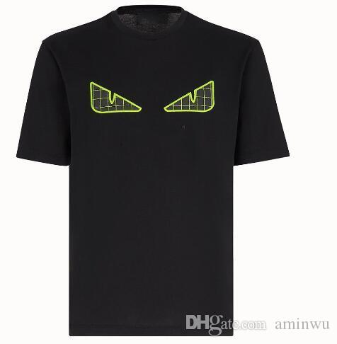 19ss Brand Designer T-shirts for Men women Fashion rivet little monster Bag Bugs eyes print t shirt Men Luxury hip hop Casual tops tees