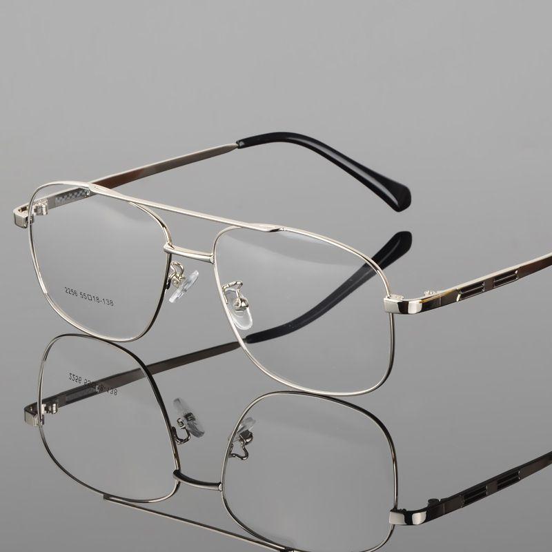 Coyee Clásico Retro Ronda Vintage Oversize Ojo de Cristal Doble Puente Hombres Grandes Gafas Miopía Gafas de Alta Calidad de Aleación Óptica