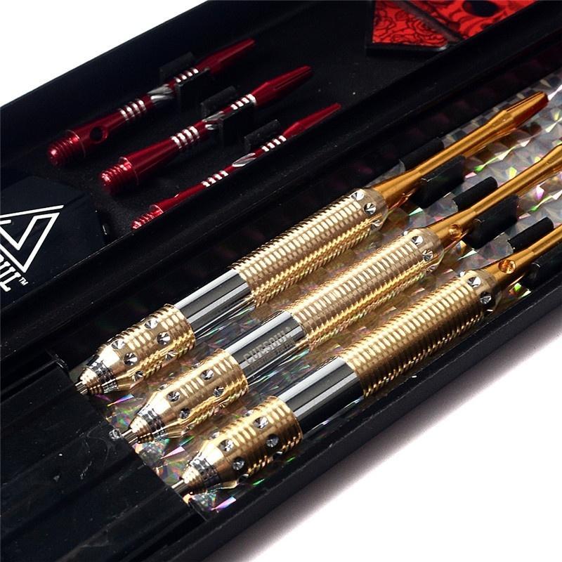 CUESOUL Serie Dragón dardo 3pcs / set de dardos Juego profesional de punta de acero y láser dardo Vuelo Rojo (tamaño 23g 25g 27g)
