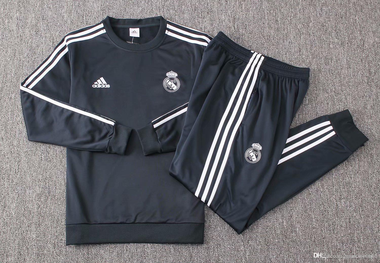 Acheter Meilleure Vente Neuf 18 19 Survêtements Du Real Madrid 2019 Veste VICORUS JR ISCO MODRIC À La Maison De Sportwear Entraînement De Football De