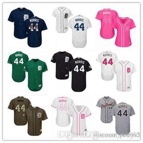 2019 top Tigers Jerseys #44 Daniel Norris Jerseys men#WOMEN#YOUTH#Men's Baseball Jersey Majestic Stitched Professional sportswear